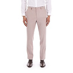 Burton - Pale pink slim fit textured suit trousers