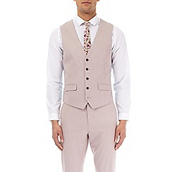 Burton - Pale pink textured slim fit  waistcoat