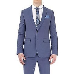 Burton - Blue puppytooth slim fit suit jacket