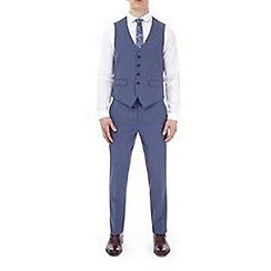 Burton - Blue puppytooth slim fit waistcoat