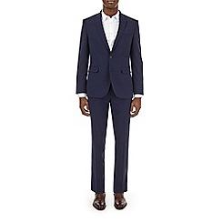 Burton - Navy smart collection slim fit suit jacket