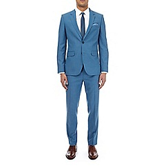Burton - Deep blue slim fit suit jacket