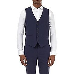 Burton - Navy smart collection slim fit suit waistcoat