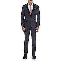 Burton - Grey spot slim fit suit jacket