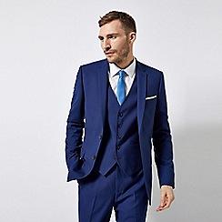 Burton - Midnight Blue Slim Fit Stretch Suit Jacket