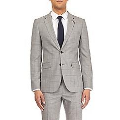Burton - Montague burton grey and blue check slim fit suit jacket
