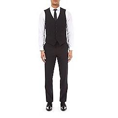 Burton - Black twill slim fit tuxedo waistcoat
