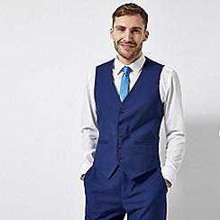 Burton - Midnight Blue Slim Fit Waistcoat With Stretch