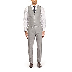 Burton - Montague burton grey and blue check slim fit waistcoat
