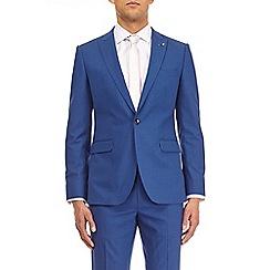 Burton - Montague burton bright blue semi plain slim fit suit jacket