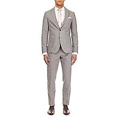 Burton - Montague burton grey cotton slim fit suit jacket