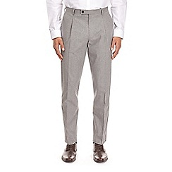 Burton - Montague burton grey cotton slim fit suit trousers