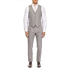 Burton - Montague burton grey cotton slim fit waistcoat
