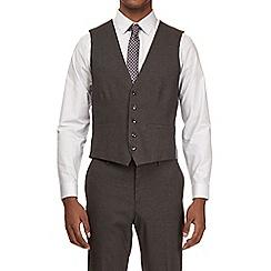 Burton - Charcoal slim fit waistcoat with stretch