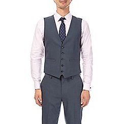 Burton - Blue essential slim fit waistcoat with stretch