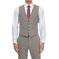 Burton - Light grey essential slim fit waistcoat with stretch