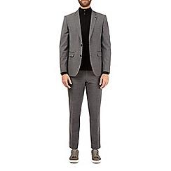 Burton - Grey smart collection slim fit suit jacket