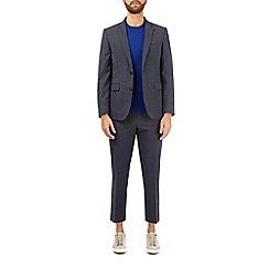 Burton - Blue smart collection textured suit jacket