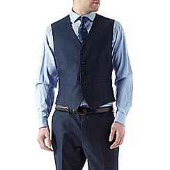 Burton - Tailored fit navy textured waistcoat