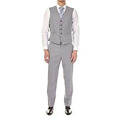Burton - Grey textured tailored fit waistcoat