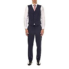 Burton - Blue checked tailored fit waistcoat