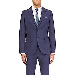 Burton - Blue twill tailored fit suit jacket