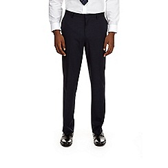 Burton - Navy essential tailored fit suit trousers with stretch