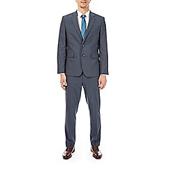 Burton - Blue essential tailored fit suit jacket with stretch