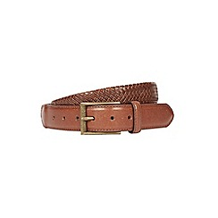 Burton - Brown leather stretch belt