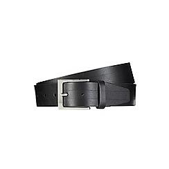 Burton - Black embossed strap belt