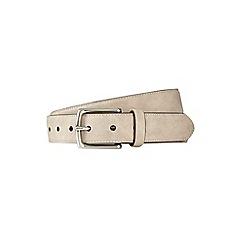 Burton - Grey suede style belt