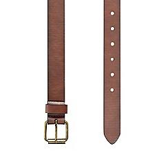 Burton - Slim tan casual belt