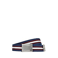 Burton - Navy canvas stripe belt