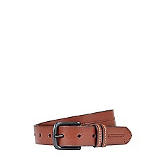 Burton - Brown western double keeper belt