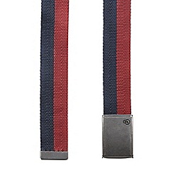 Burton - Navy and burgundy belt