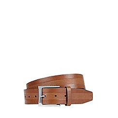 Burton - Tan embossed strap belt
