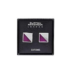 Burton - Pink square cufflink