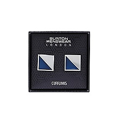 Burton - Blue square cufflink set