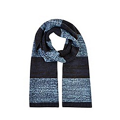 Burton - Blue and navy Mormont stripe scarf
