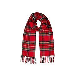 Burton - Red tartan scarf