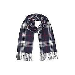 Burton - Navy check scarf