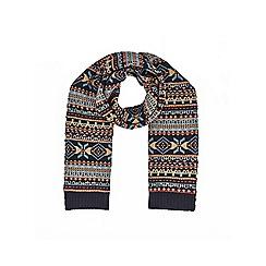Burton - Navy Fair Isle scarf