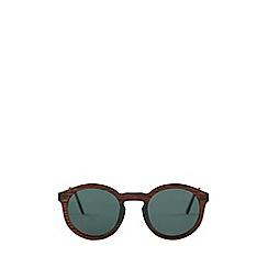 Burton - Dark brown round sunglasses