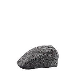 Burton - Herringbone over check flat cap