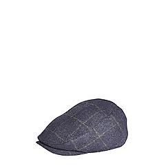 Burton - Navy subtle check flat cap