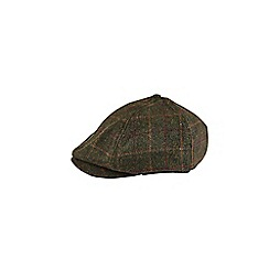Burton - Green checked baker boy hat