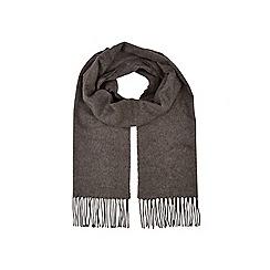 Burton - Charcoal plain smart scarf