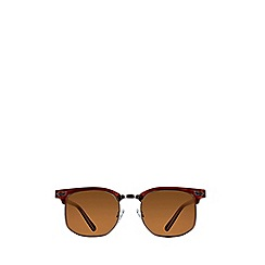 Burton - Retro Brown Square Sunglasses