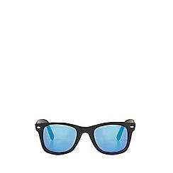 Burton - Black matte mirror wayfarer sunglasses