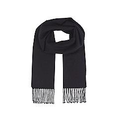 Burton - Black plain smart scarf